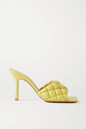Yellow Quilted leather mules | Bottega Veneta | NET-A-PORTER