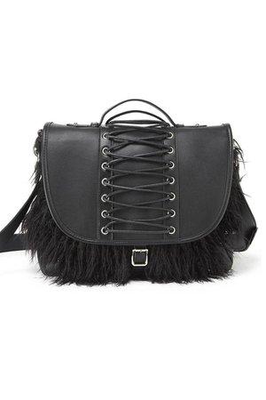 Loke Fur Messenger Bag [B]   KILLSTAR - US Store