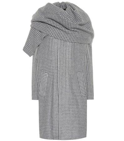 Checked Wool-Blend Coat | Balenciaga - Mytheresa