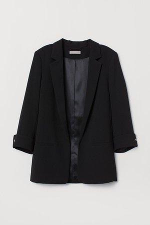 Crêped Jacket - Black - Ladies | H&M US