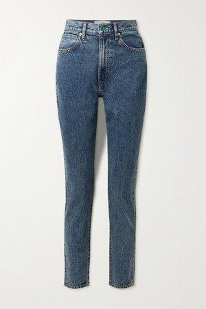 Beatnik High-rise Slim-leg Jeans - Mid denim