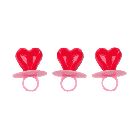 heart shaped red ring pops