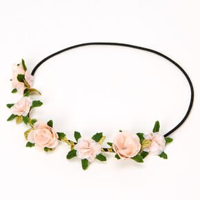 Leaves & Roses Flower Crown Headwrap - Red | Claire's US