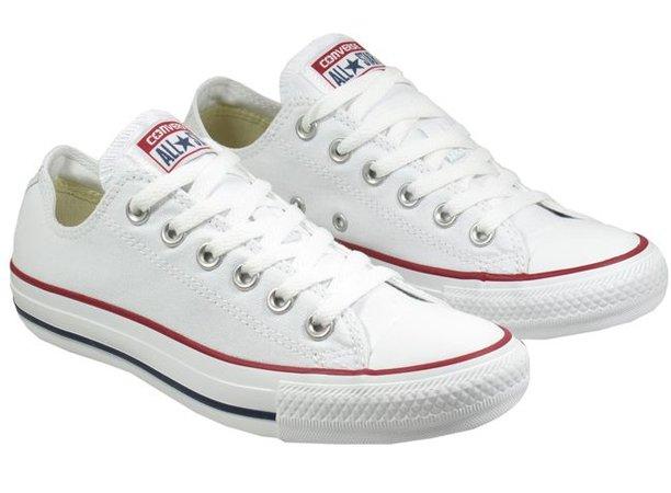 Converse white low