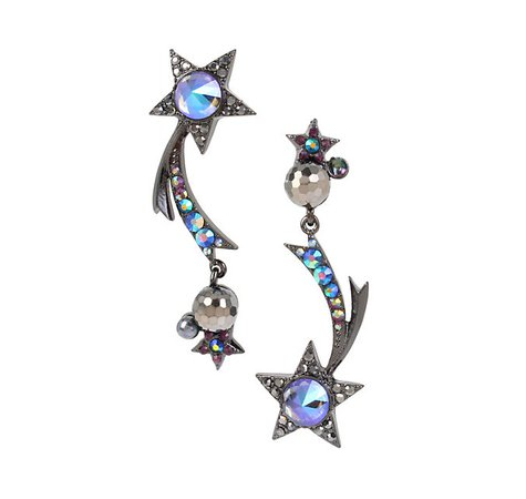 Betsey Johnson | BETSEYS DARK MAGIC STAR EARRINGS