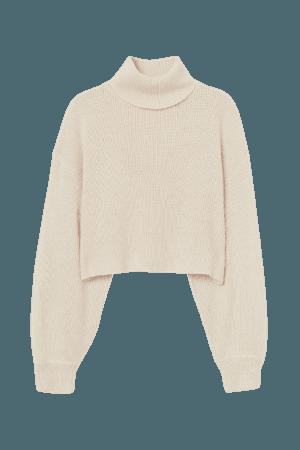 Cropped Turtleneck Sweater H&M