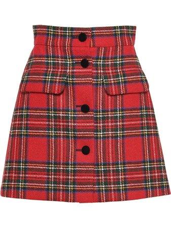 Miu Miu, Plaid Shetland Skirt