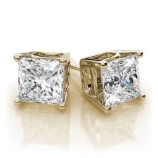gold diamond earrings - Google Search