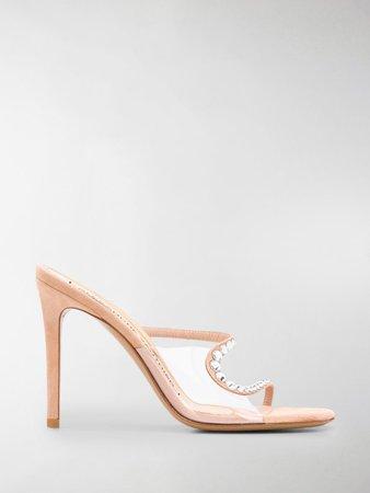 Crystal Embellished Stiletto Sandals