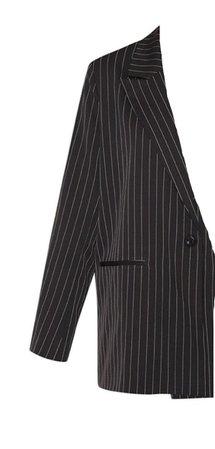 black pinstripe blazer plt