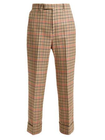 Pantalon en laine mélangée à motif pied-de-poule | Gucci | MATCHESFASHION.COM FR