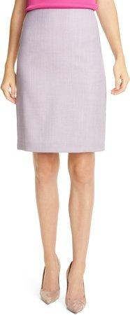 Vikena Wool Pencil Skirt