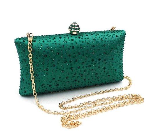 emerald clutch purse
