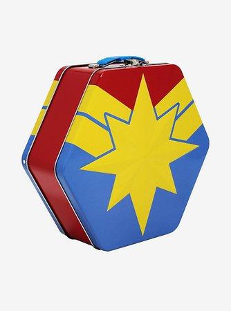Marvel Captain Marvel Embossed Metal Lunch Box