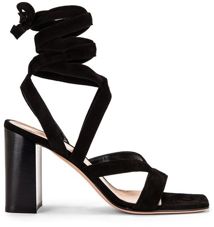 Camoscio Strappy Sandals in Black | FWRD