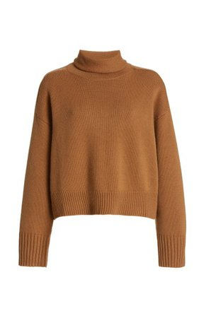 Stintino Cropped Wool-Cashmere Turtleneck Sweater By Loulou Studio | Moda Operandi