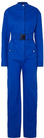 Kwaidan Editions - Belted Bonded-cotton Jumpsuit - Blue
