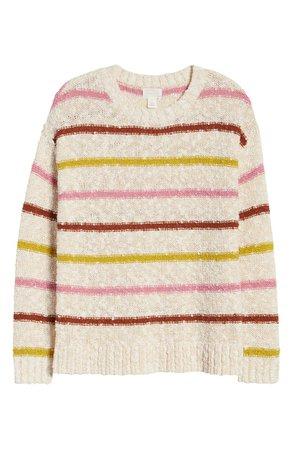Caslon® Slubbed Cotton Blend Sweater | Nordstrom