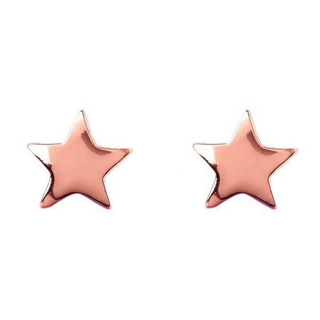 Earrings | Shop Women's Gold Sterling Silver Star Butterfly Stud Earring at Fashiontage | 5054469028605