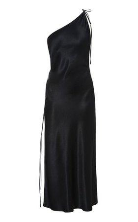 One-Shoulder Satin Midi Dress By Matériel | Moda Operandi