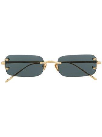 Linda Farrow, Rimless rectangular-frame Sunglasses