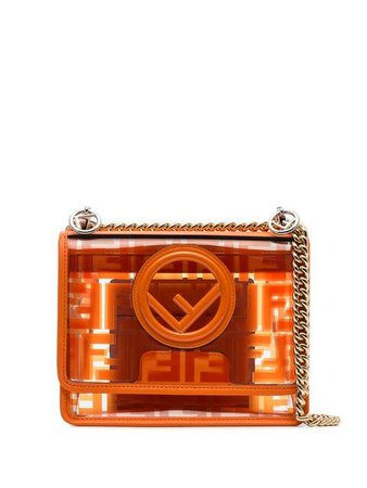 Fendi Kan I FF Logo Print cross-body Bag - Farfetch