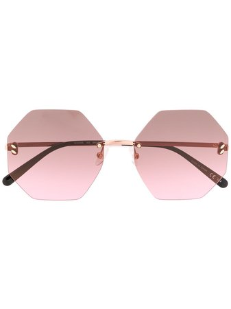 Stella McCartney Eyewear Geometric Sunglasses - Farfetch