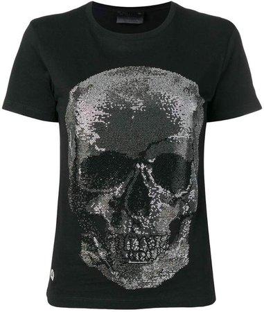 embellished skull T-shirt