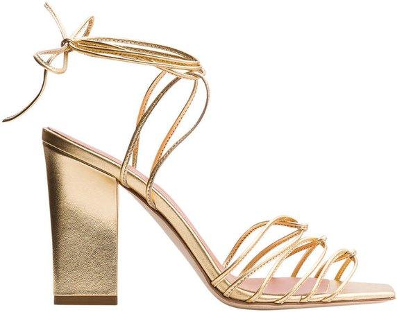 Aeyde Daisy Metallic Sandals