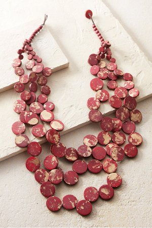 Leora Necklace - Red Disc Necklace | Soft Surroundings
