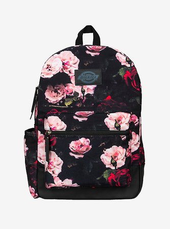 Dickies Dark Floral Canvas Backpack