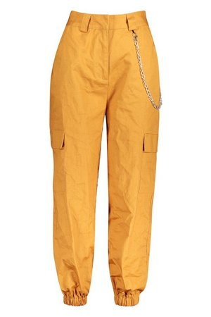 Chain Trim Pocket Cargo Pants   Boohoo