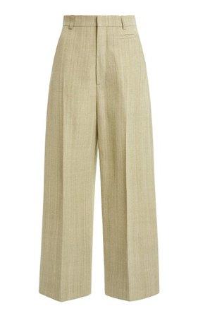 Santon Silk-Blend Straight-Leg Trousers By Jacquemus | Moda Operandi