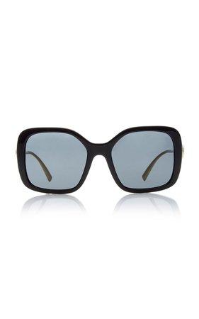 Vintage Logo Square-Frame Acetate Sunglasses by Versace   Moda Operandi