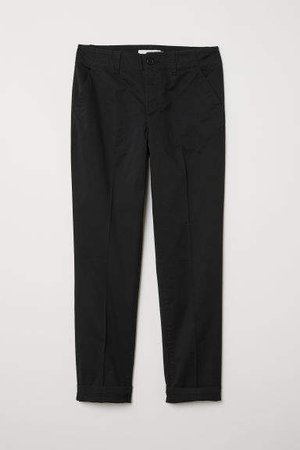 Cotton Chinos - Black