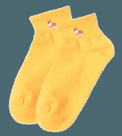 yellow dog socks
