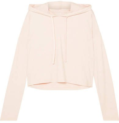 We/Me - The Zen Cropped Stretch-jersey Hoodie - Blush