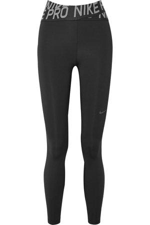 Nike | Pro Intertwist cutout mesh-trimmed Dri-FIT stretch leggings | NET-A-PORTER.COM