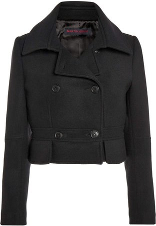 Martin Grant Wool Cropped Peacoat