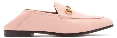 Brixton Collapsible Heel Leather Loafers - Womens - Pink