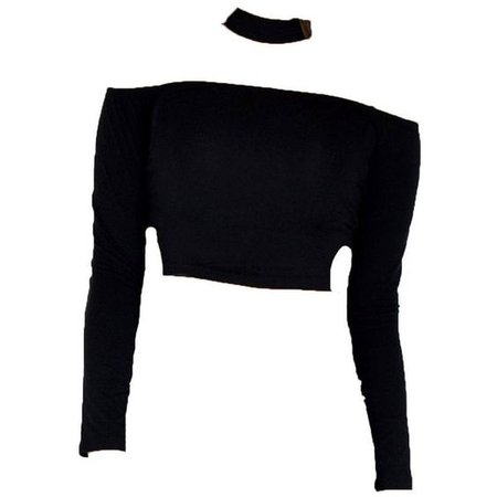 Black Choker Crop Top