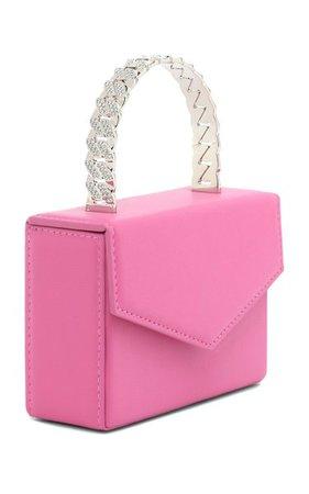 Super Amini Pernille Crystal-Trimmed Leather Top Handle Bag By Amina Muaddi | Moda Operandi