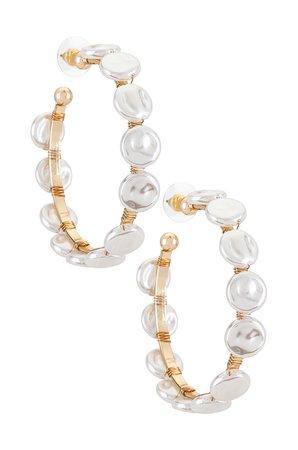 8 Other Reasons Emory Hoop Earrings in Gold | REVOLVE