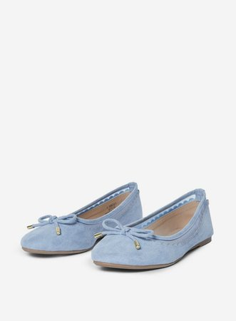 Wide Fit Blue 'Pippa' Pumps   Dorothy Perkins