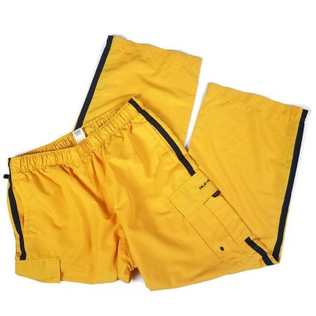 Old Navy Pants   Vintage Y2k Bright Yellow 2 In Pants To Shorts   Poshmark