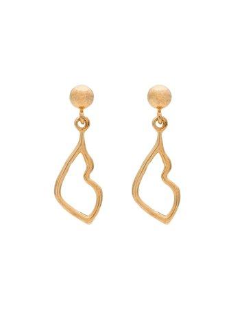 Holly Ryan gold-plated Kiss Drop Earrings - Farfetch