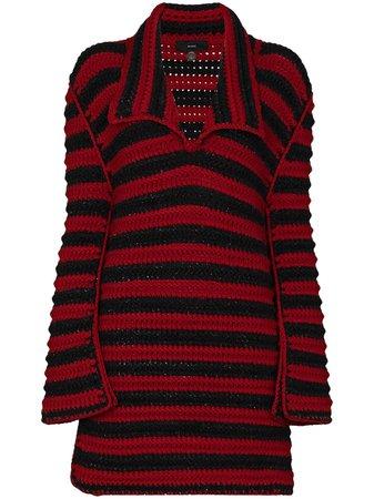 Alanui Crochet Striped Maxi Jumper Aw20 | Farfetch.Com