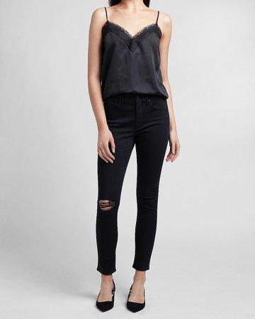 Mid Rise Black Skinny Jeans