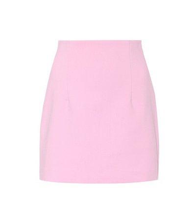 Cotton-blend miniskirt