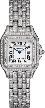 CRHPI01129 - Panthère de Cartier watch - Small model, 18K white gold, diamonds - Cartier